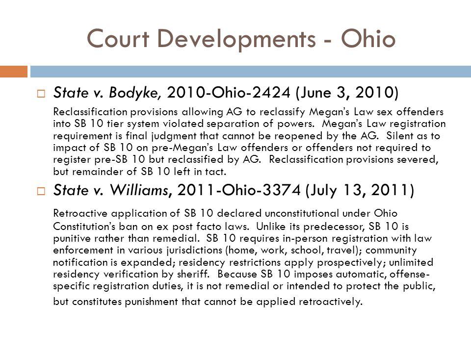 Court Developments - Ohio  State v.