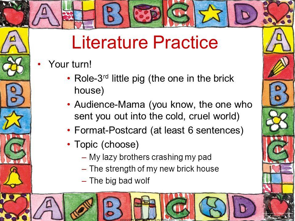 Literature Practice Your turn.