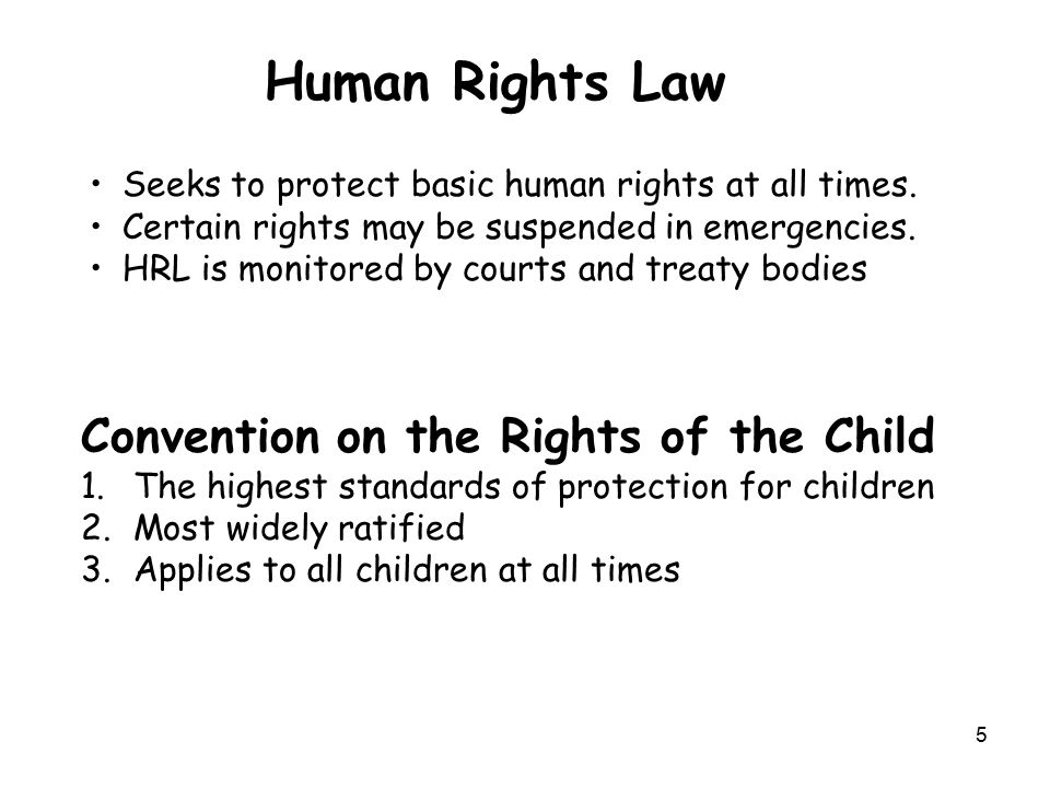 Universal Declaration of Human RightsConvention on the Rights of the Child Article 1 free and equal in dignity and rights Considering that … Article 2 non-discrimination Article 2 non-discrimination Article 3 life, liberty and security of person Article 6 right to life Article 4 no slavery Article 32 work conditions and child labour Article 5 no torture Article 37 no torture or inhumane treatment Article 6 recognition as person before the law Article 40 due process rights and juvenile justice Article 7 equality before the law Article 40 due process rights and juvenile justice Article 8 effective remedy Article 24 health care services Article 9 no arbitrary arrest Article 37 no torture or inhumane treatment Article 10 fair trial Article 40 due process rights and juvenile justice Article 11 presumption of innocence; Article 40 due process rights and juvenile justice