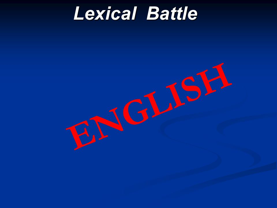 Lexical Battle ENGLISH