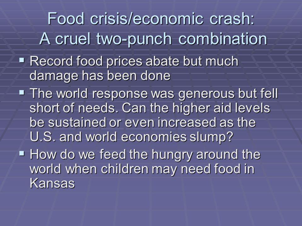 Program/Presenters  Ambassador Tony Hall, Keynote Address  Allan Jury, World Food Program, The World Response to the Food Security Crisis  Jeffrey Borns, USAID, The U.S.