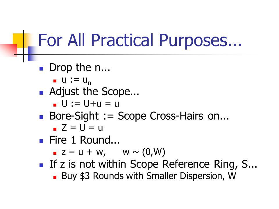 For All Practical Purposes... Drop the n... u := u n Adjust the Scope...