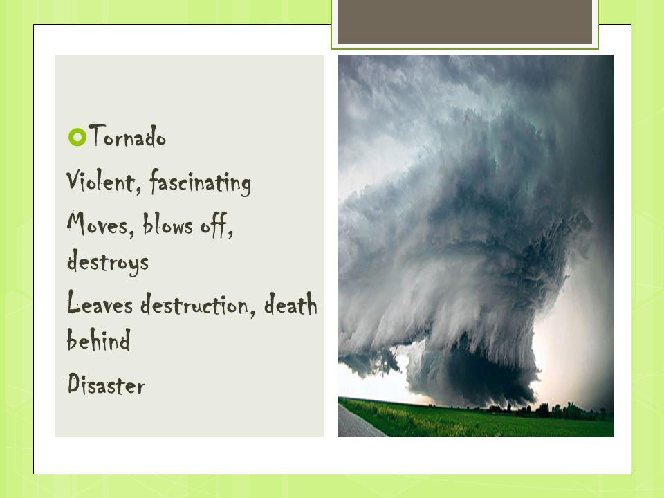  Tornado Violent, fascinating Moves, blows off, destroys Leaves destruction, death behind Disaster