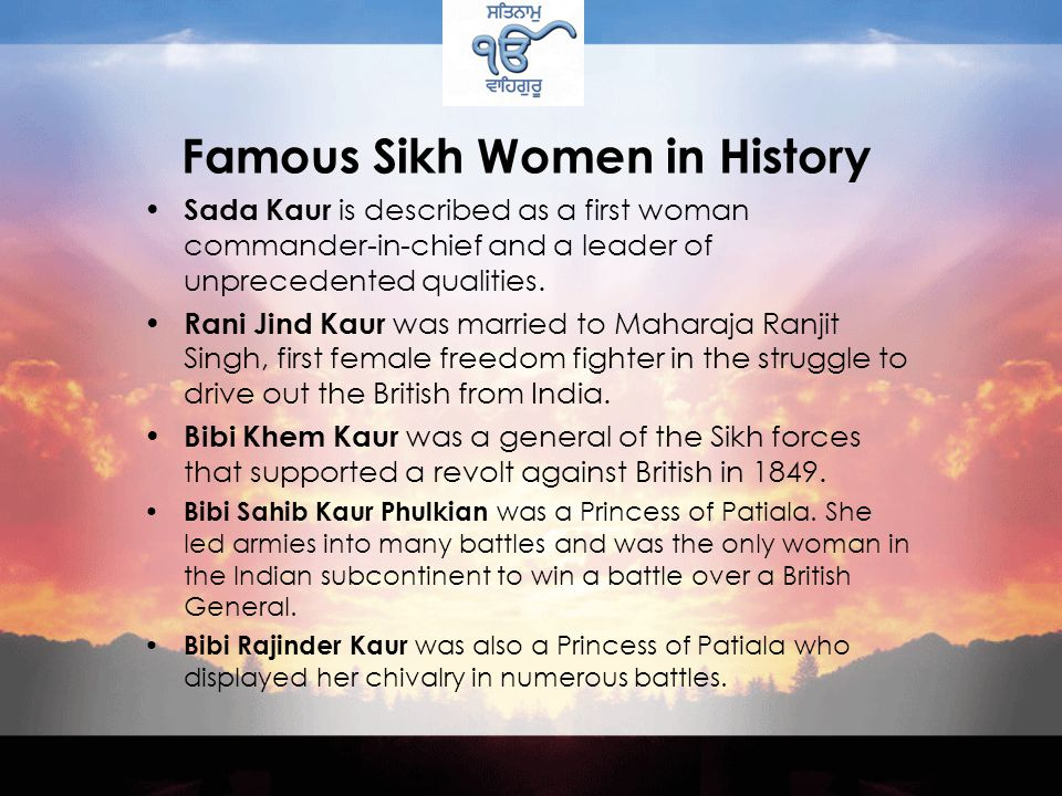 Famous Sikh Women in History Mata Khivi - Her most important contribution is the concept of langar.