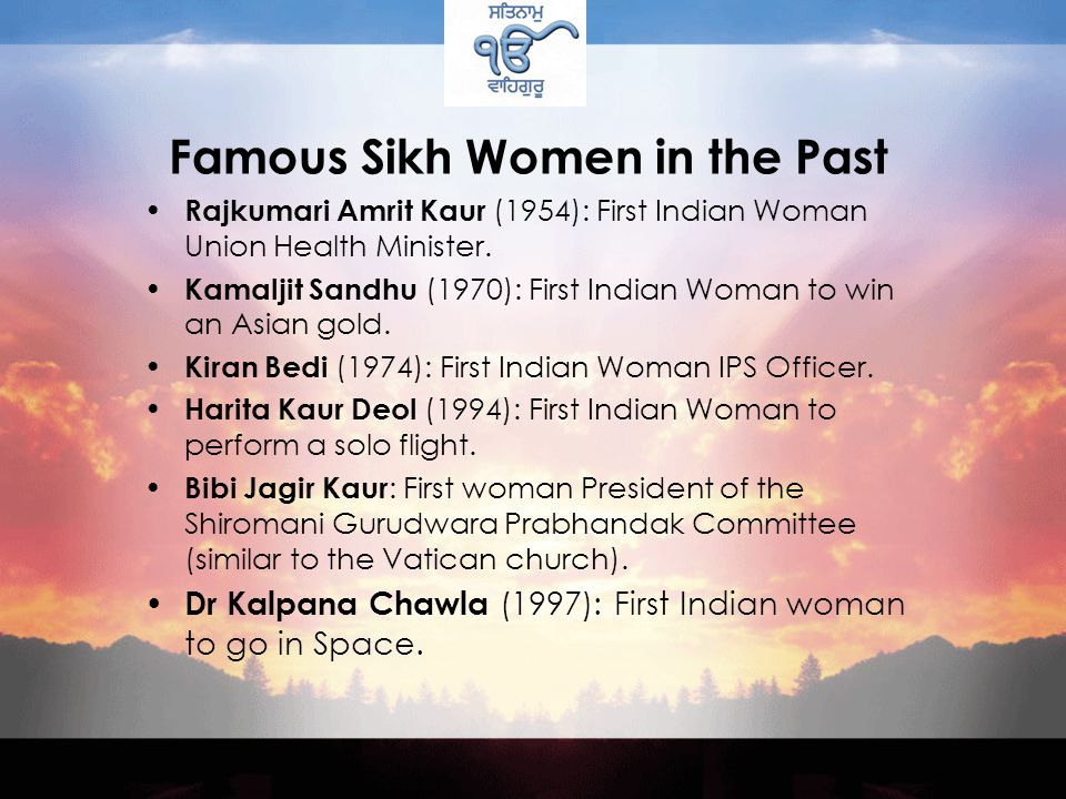 Famous Sikh Women in History Sada Kaur is described as a first woman commander-in-chief and a leader of unprecedented qualities.