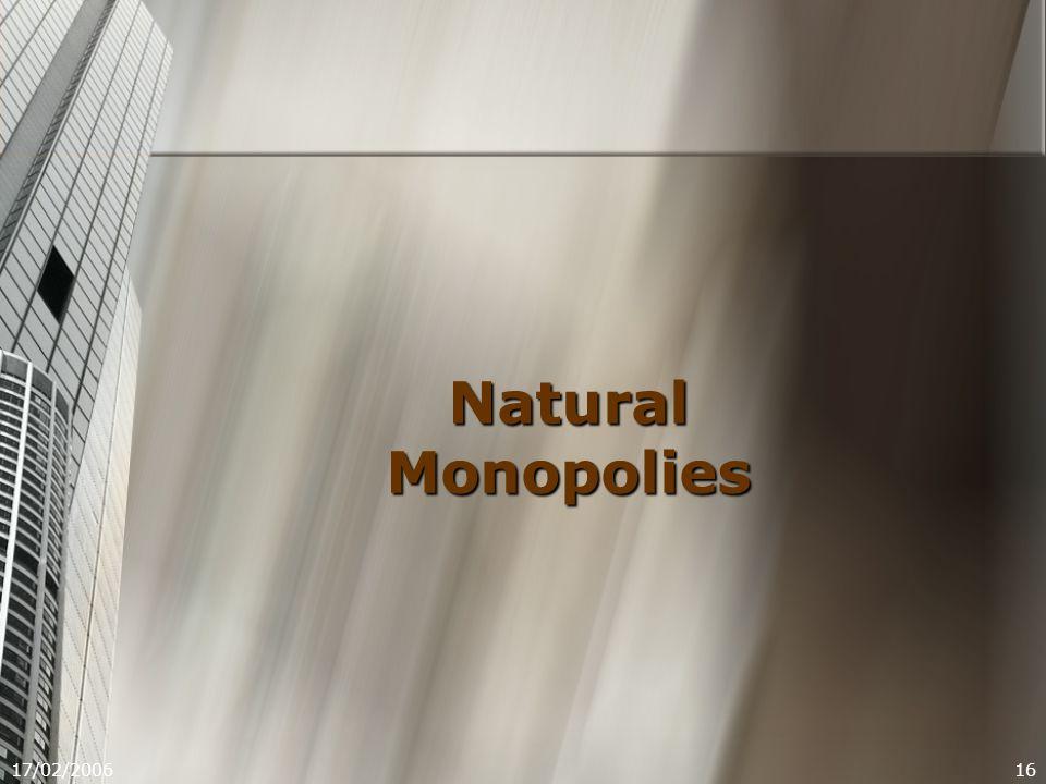 17/02/200616 Natural Monopolies