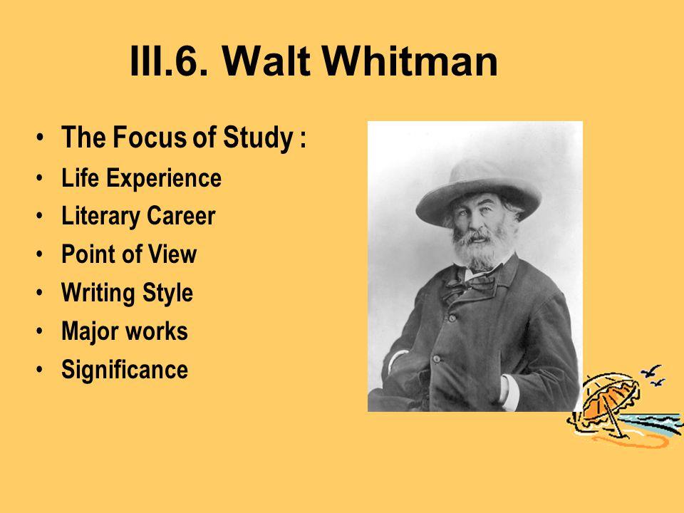 Walt Whitman Epitome of Emerson's American Scholar .