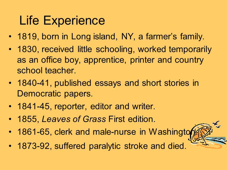 Literary Career Three distinctive periods: 1.