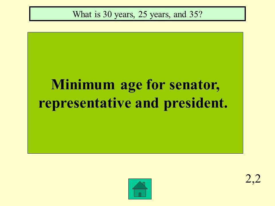 2,1 Term for senator and representative. What is 6 years and 2