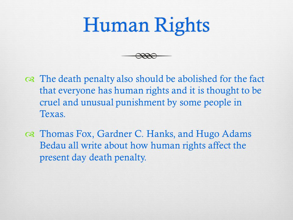 Death Penalty Thesis Statement