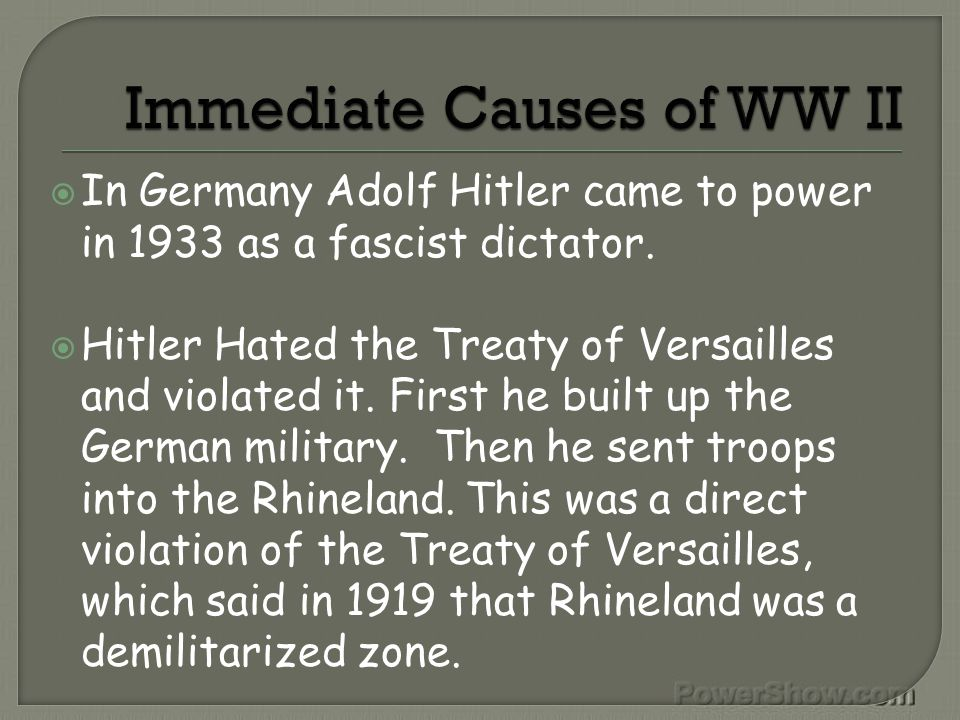  Hitler wanted to conquer whoever he felt was inferior to the Germans or Aryans.