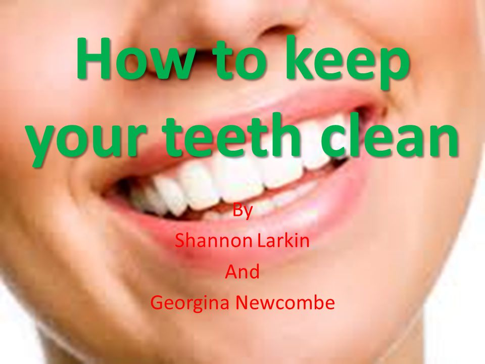 How to keep your teeth clean By Shannon Larkin And Georgina Newcombe