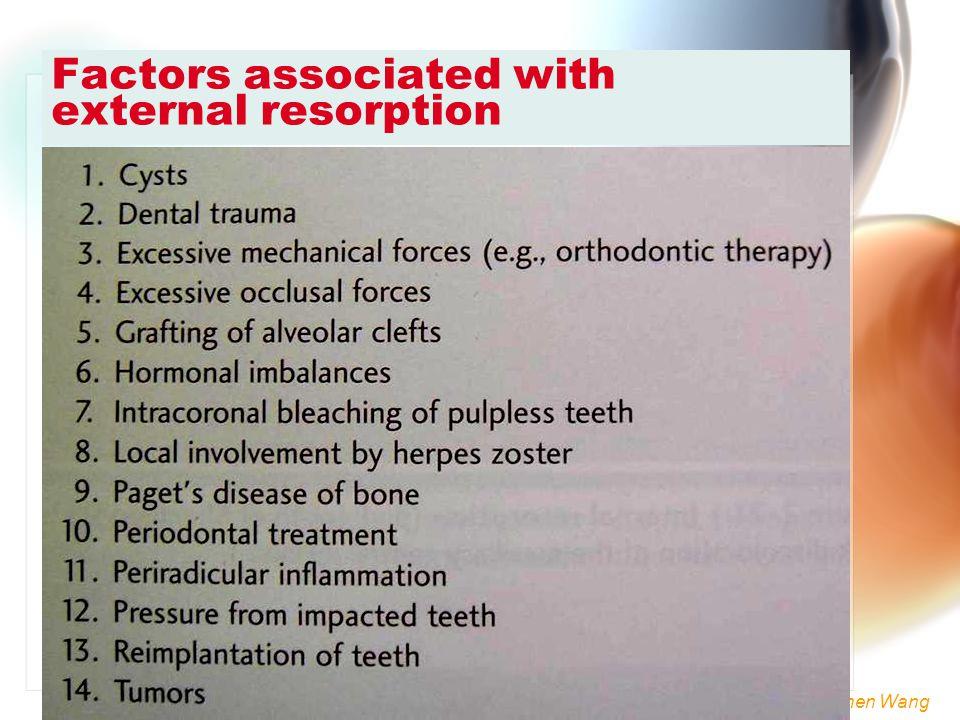 Wen-Chen Wang Factors associated with external resorption