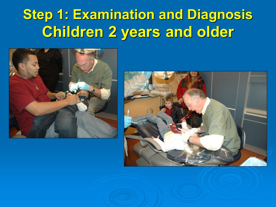 Step 1: Examination and Diagnosis Children 2 years and older Need photo