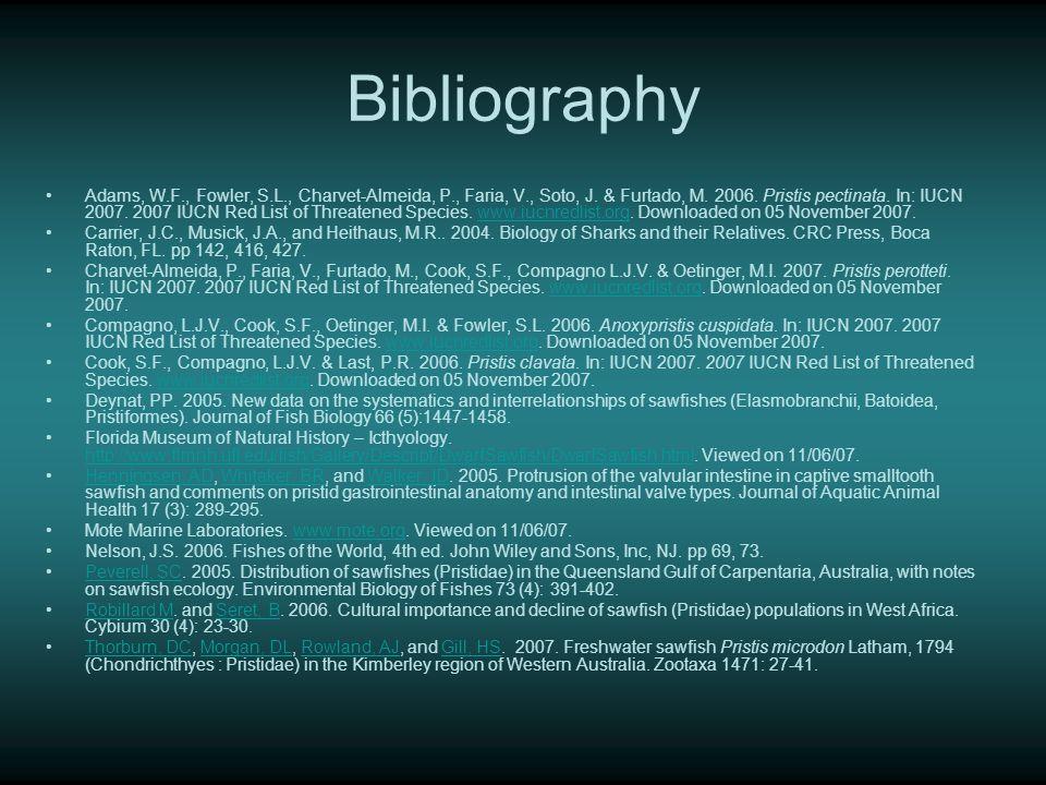Bibliography Adams, W.F., Fowler, S.L., Charvet-Almeida, P., Faria, V., Soto, J.