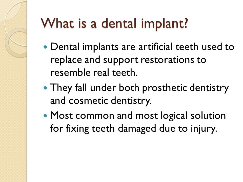 What is a dental implant.