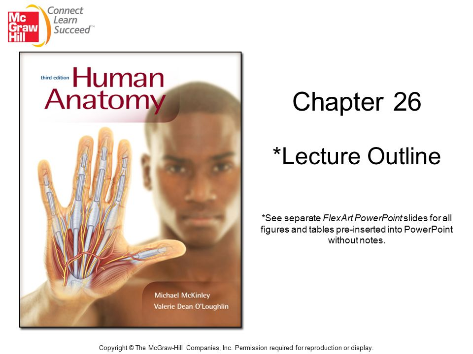 Chapter 26 *Lecture Outline Copyright © The McGraw-Hill Companies, Inc. Permission required for reproduction or display. *See separate FlexArt PowerPo