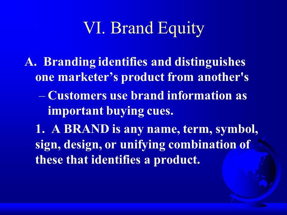 VI. Brand Equity A.