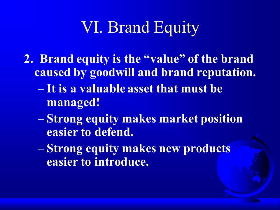 VI. Brand Equity 2.