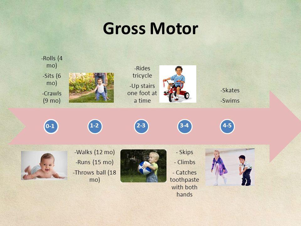 Gross Motor 0-1 1-22-33-4 4-5