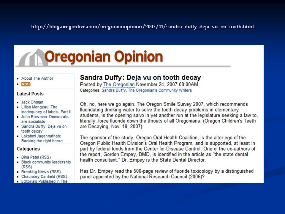 http://blog.oregonlive.com/oregonianopinion/2007/11/sandra_duffy_deja_vu_on_tooth.html