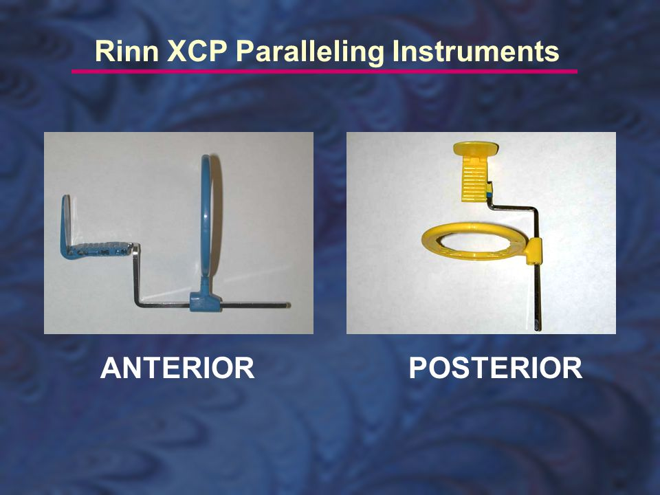ANTERIORPOSTERIOR Rinn XCP Paralleling Instruments