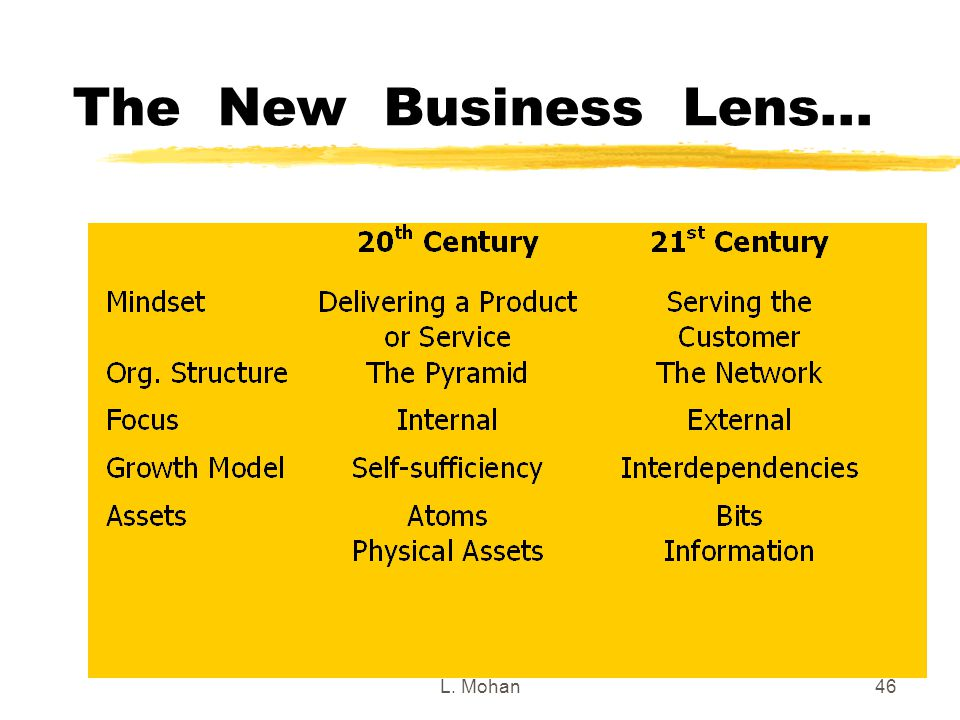 L. Mohan46 The New Business Lens...