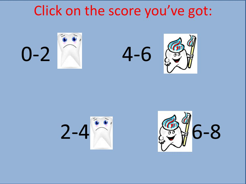Click on the score you've got: 0-2 4-6 2-4 6-8