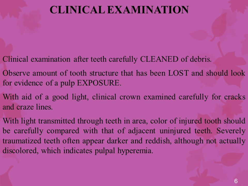 RADIOGRAPHIC EXAMINATION Examination of traumatized teeth cannot be considered complete without a radiograph.