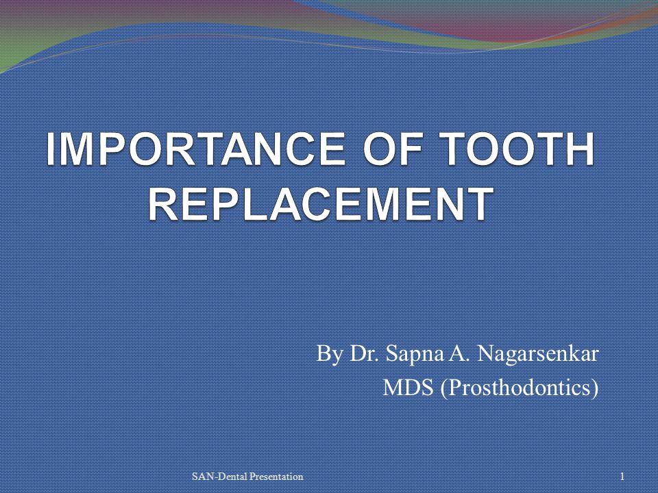 By Dr. Sapna A. Nagarsenkar MDS (Prosthodontics) SAN-Dental Presentation1