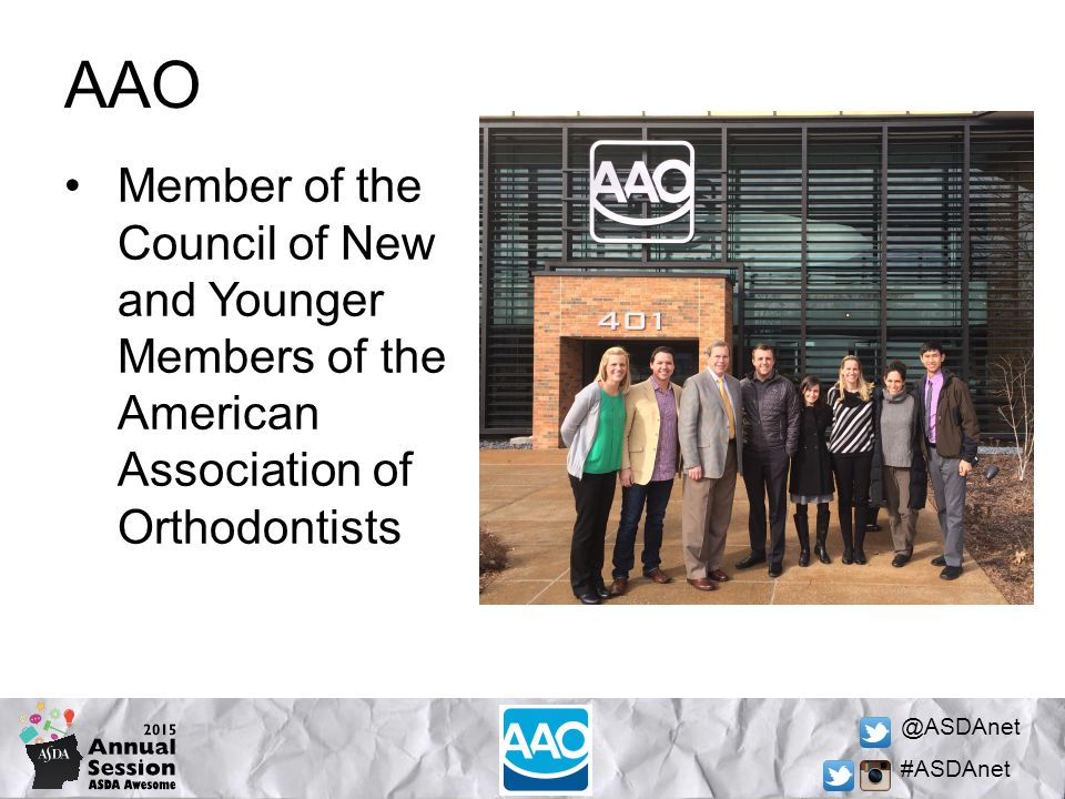 @ASDAnet #ASDAnet Early Diagnosis The AAO recommends that a child is seen by an orthodontist at the age of 7