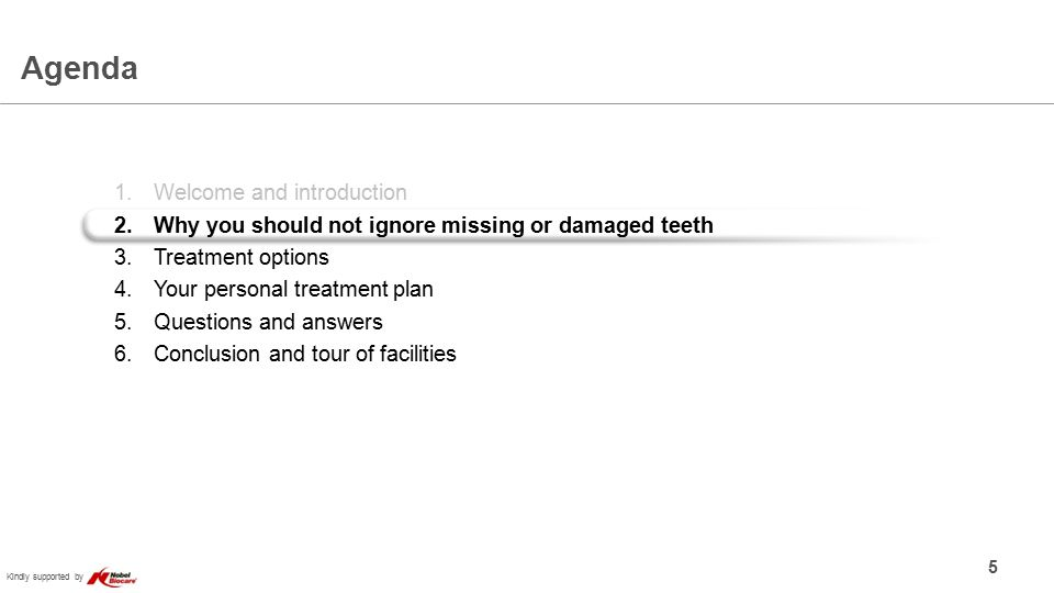 Kindly supported by Different reasons can cause tooth loss 6
