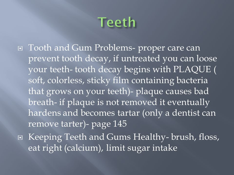  Regular Dental Checkups- get a checkup TWICE A YEAR- will get an examination, clean your teeth, if need teeth straightened may refer you to an orthodontist (straighten teeth, correct irregularities of teeth and jaw)  Healthy Skin- SKIN is the BIGGEST organ of your body- waterproof shield protects your body against germs, senses pressure and temperature