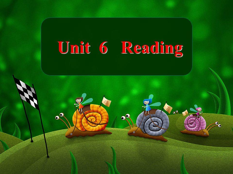 Unit 6 Reading