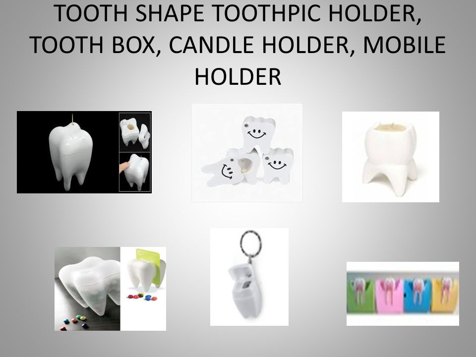 TOOTH SHAPE TOOTHPIC HOLDER, TOOTH BOX, CANDLE HOLDER, MOBILE HOLDER