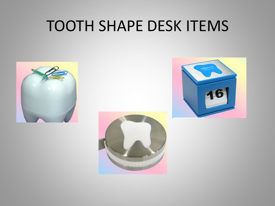 TOOTH SHAPE DESK ITEMS