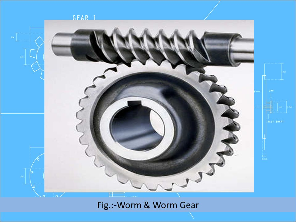 Fig.:-Worm & Worm Gear