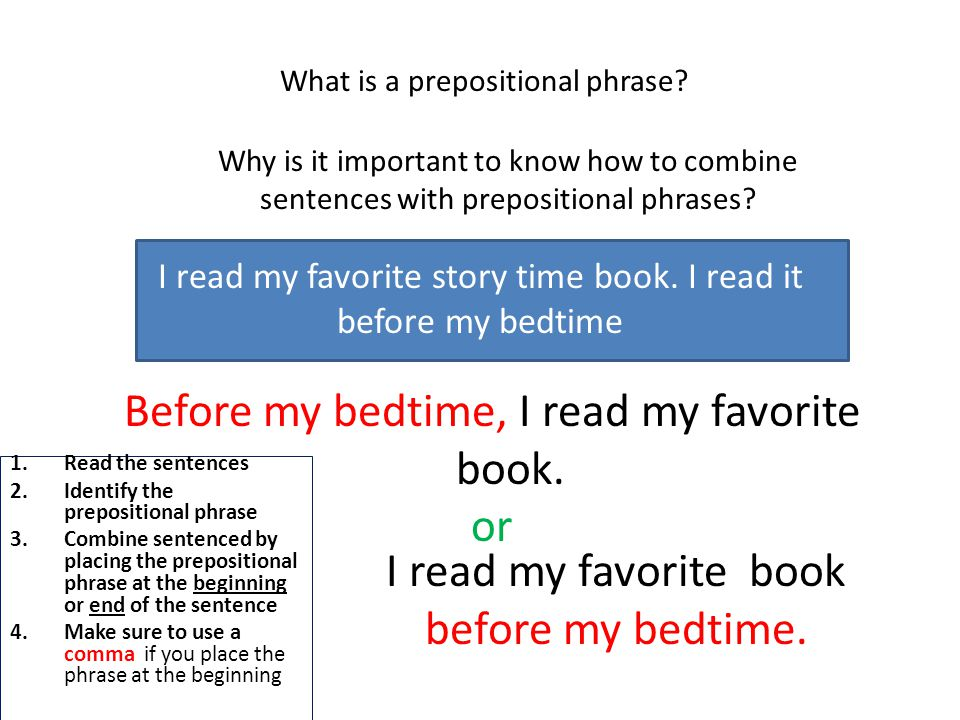 What is a prepositional phrase.
