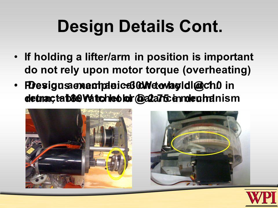 Design Details Cont.