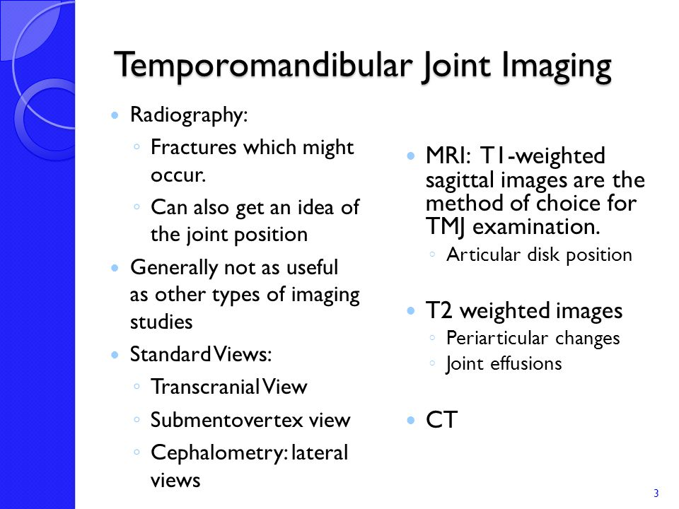 4.Lateral Pterygoid: TMJ dysfunction a.
