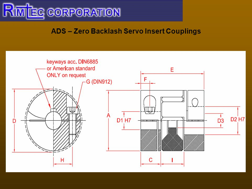 ADS – Zero Backlash Servo Insert Couplings