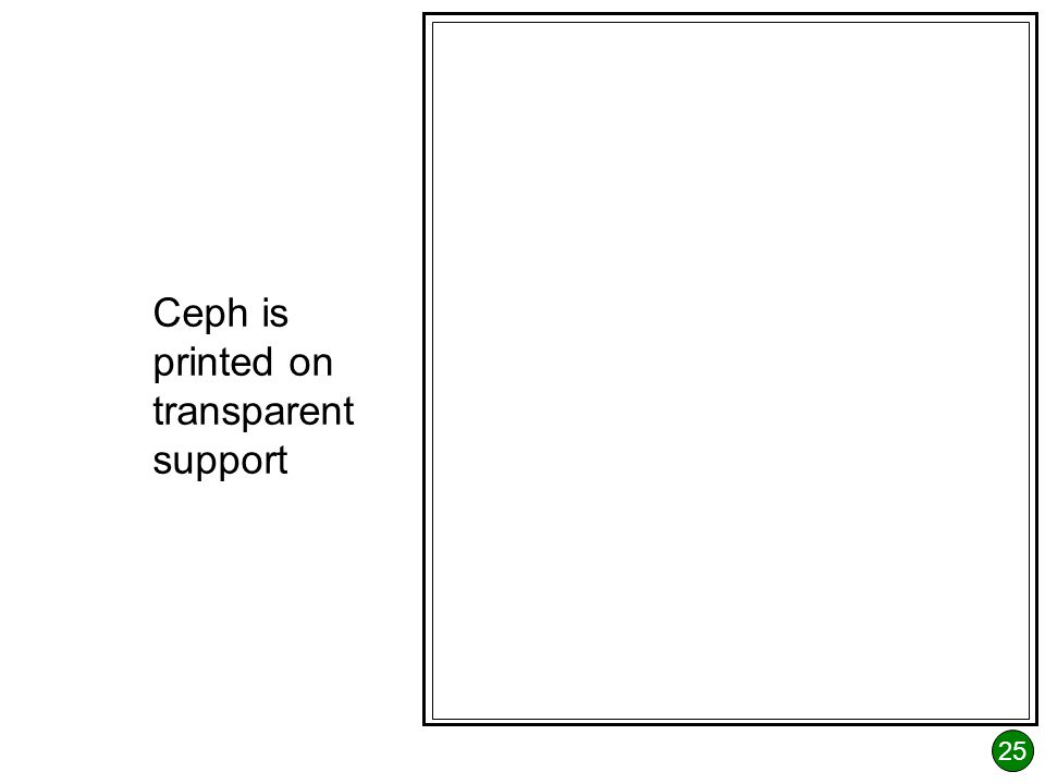 25 Ceph is printed on transparent support
