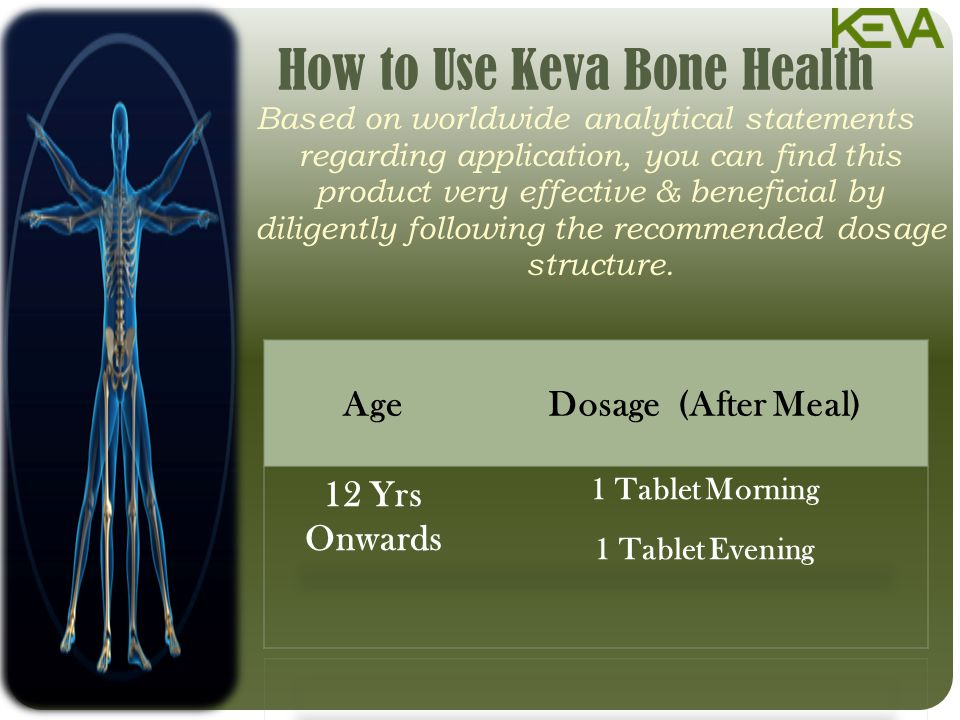 How to Use Keva Bone Health Based on worldwide analytical statements regarding application, you can find this product very effective & beneficial by diligently following the recommended dosage structure.