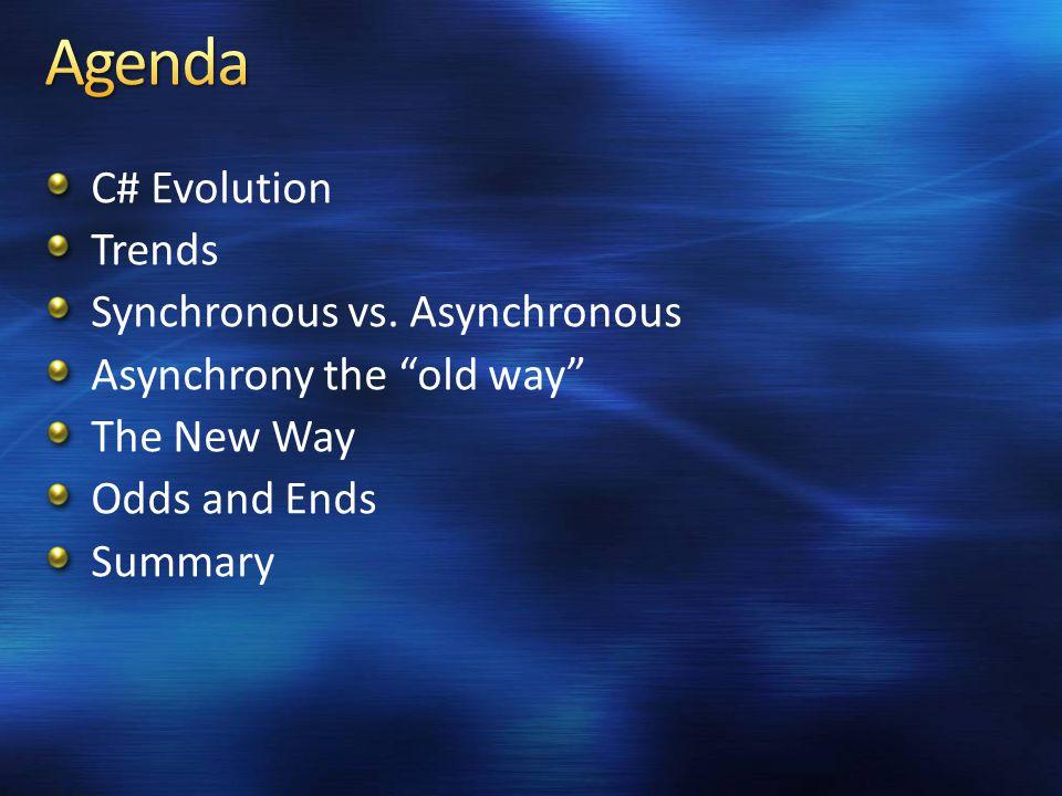 C# Evolution Trends Synchronous vs.