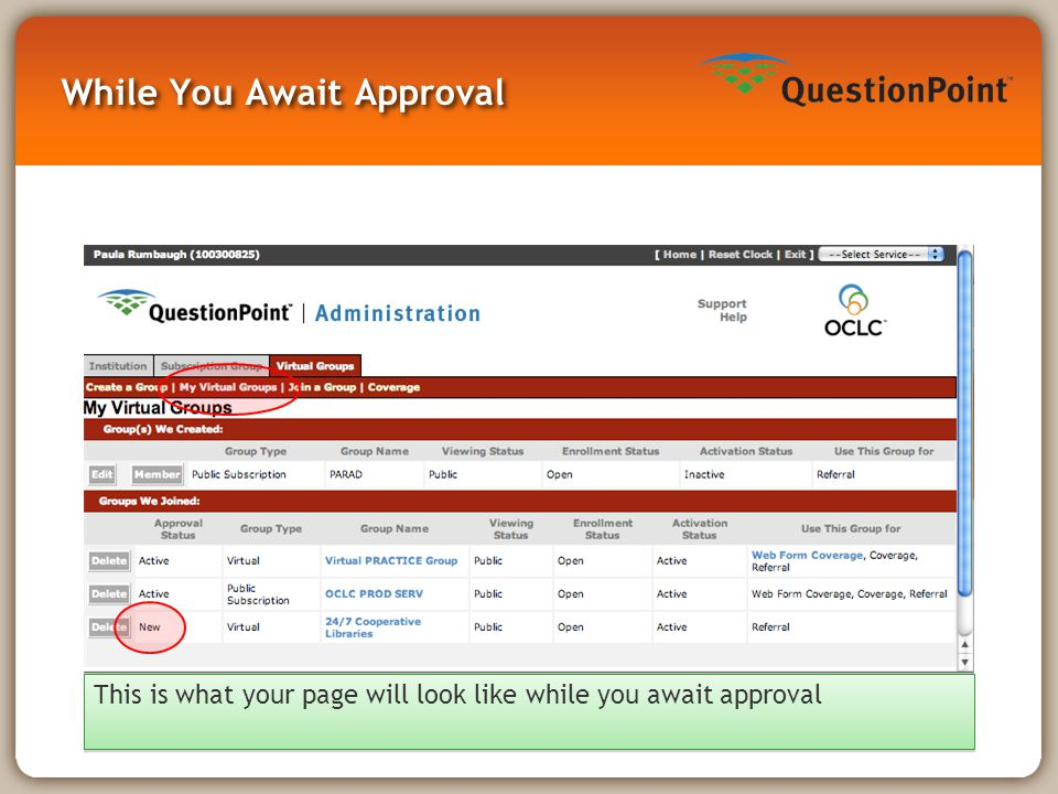 While You Await Approval This is what your page will look like while you await approval