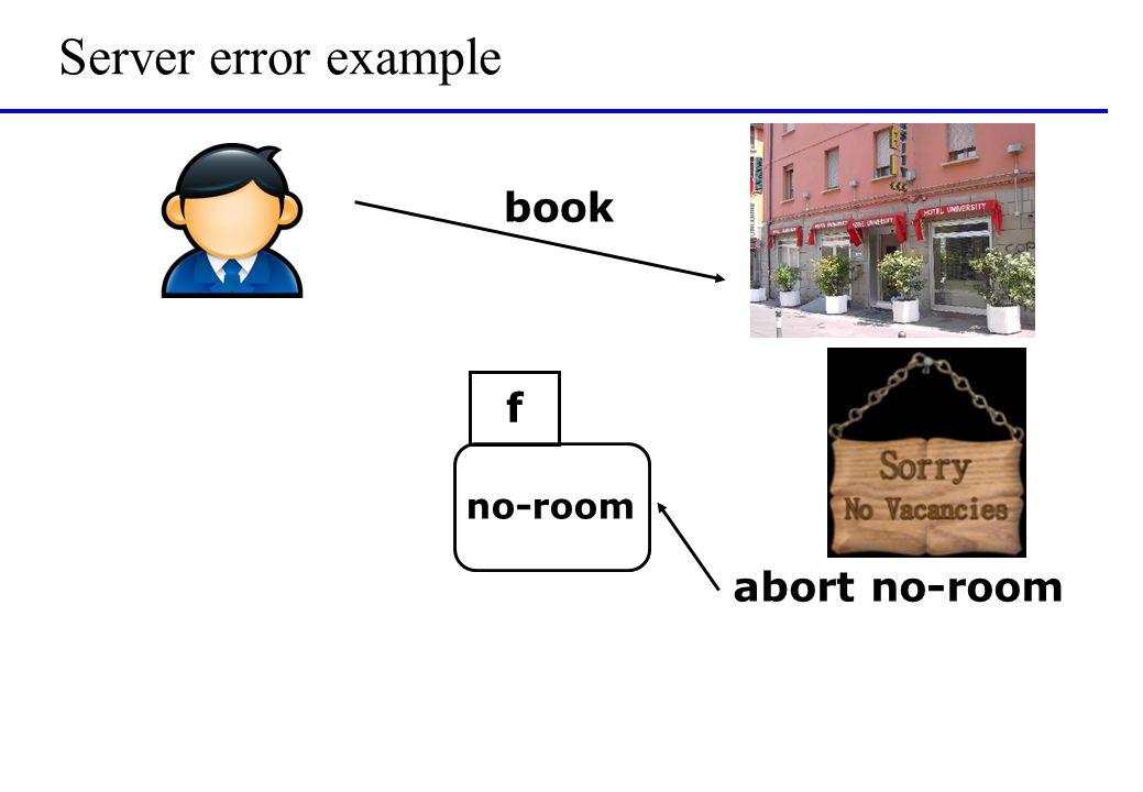 Server error example book no-room f abort no-room