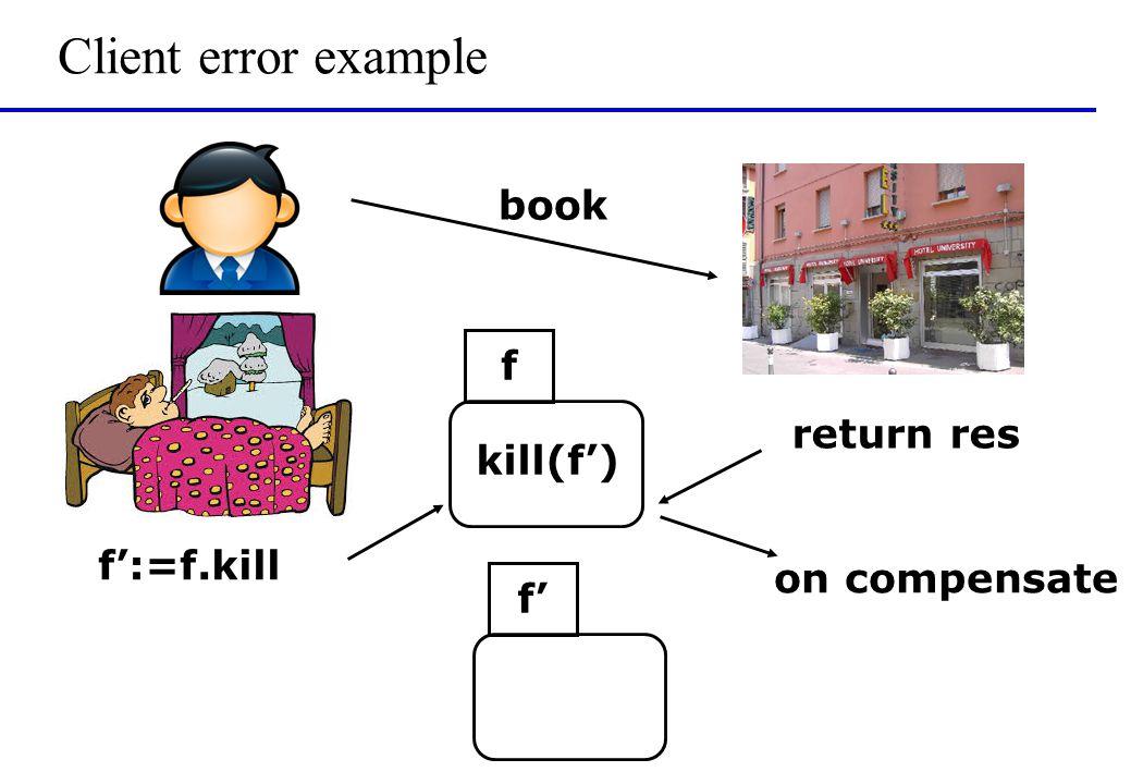 Client error example book f f':=f.kill kill(f') return res f' on compensate