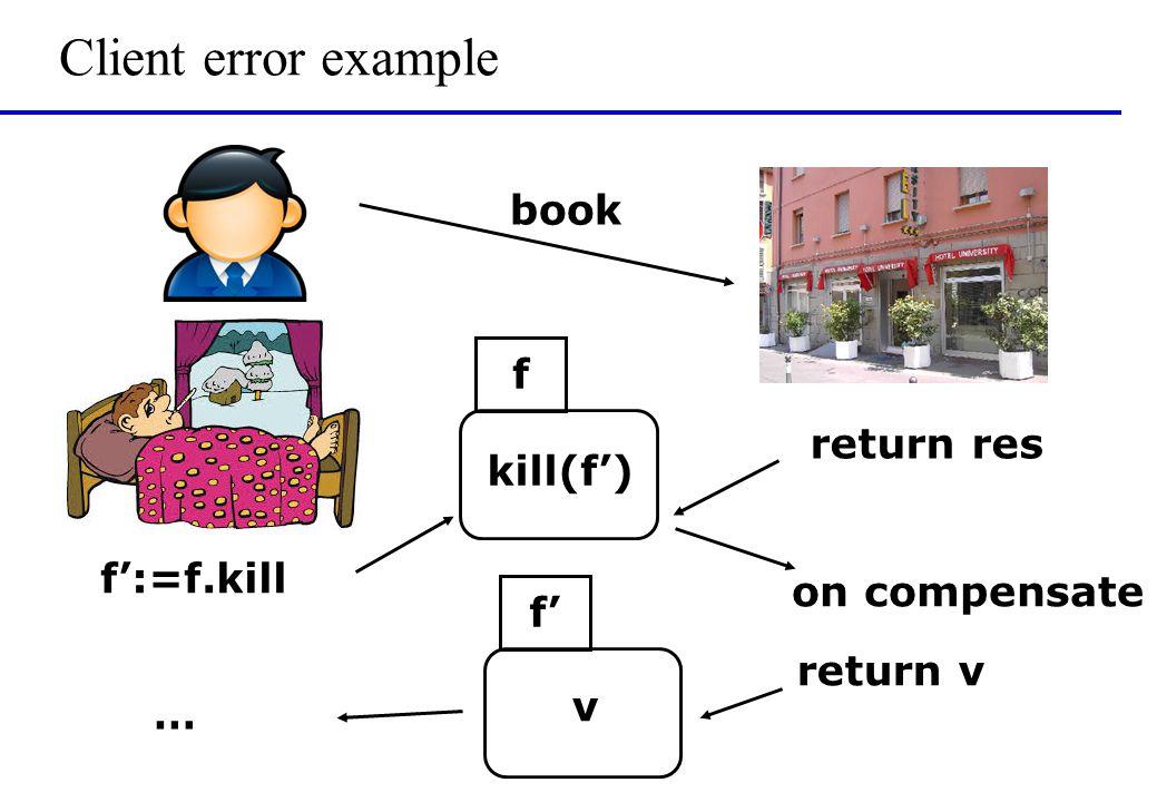 Client error example book f f':=f.kill kill(f') return res f' on compensate return v v …