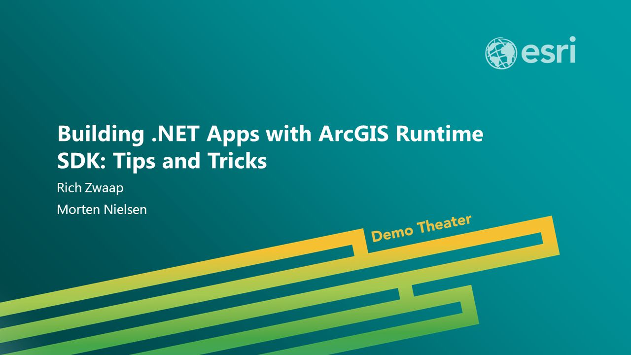 Esri UC 2014 | Demo Theater | This session should be known as… Building.NET Apps with ArcGIS Runtime SDK: Tips and Tricks