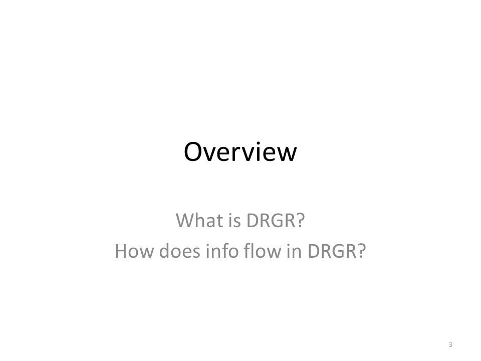Module 4 Content Overview of DRGR Open an Account Action Plans Drawdowns Quarterly Reports 2